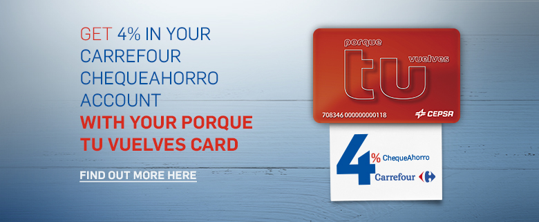 Get 4% from your Carrefour ChequeAhorro savings account