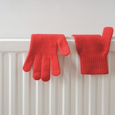 Heater and gloves